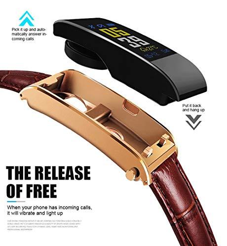 VRTUR Smartwatch Wasserdicht Fitness Armband 0,96 Zoll TFT Farbbildschirm Ledergürtel Fitness Tracker, Aktivitätstracker Pulsuhren Schrittzaehler Uhr Smart Watch für Damen Herren