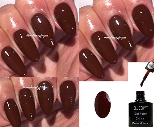 Bluesky 80561 Crispy Chesnut Vernis à ongles gel UV LED Marron Soak Off 10 ml 2 lingettes brillance Homebeautyforyou incluses