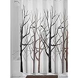 amagical Bosque Patrón 100% tejido de poliéster cortina de ducha (180x 180cm, con 12ganchos, tela, marrón, 72X72 in