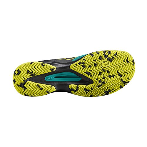 Wilson Kaos Comp Safety, Chaussures de Tennis Homme Vert/Noir (Tropical Green/Black/Safety Yellow)