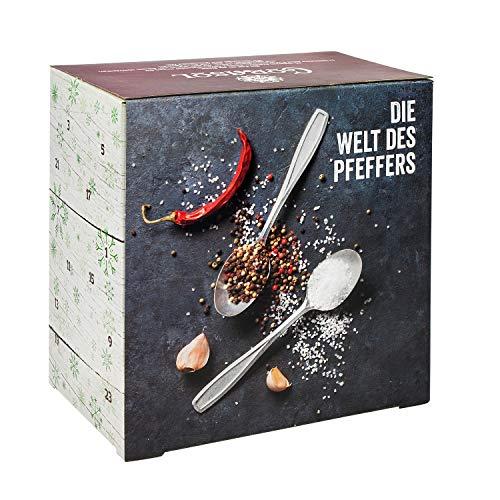 Corasol Premium Salz & Pfeffer Adventskalender 2019 XXL, die Gewürz Gourmet Geschenkidee für Männer & Frauen (259 g)