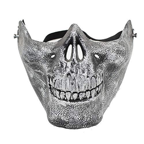 otenkopf Halloween Maske Herren Kuh Face Mask (Silber) ()