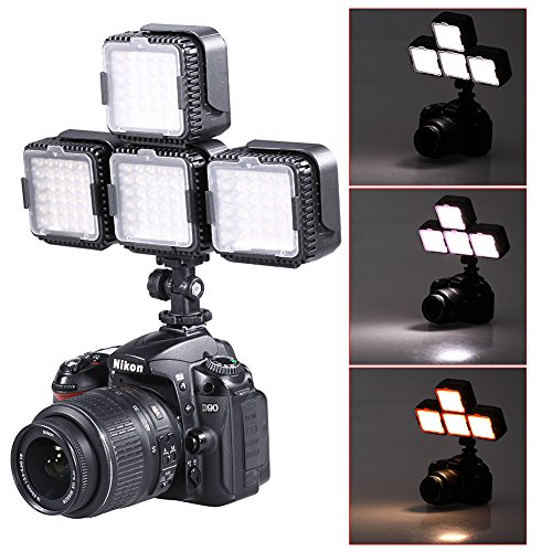 Neewer® CN-LUX360 5400K dimmbare LED-Video-Licht-Lampe für Canon Nikon Kamera-DV-Camcorder (4 Stück)