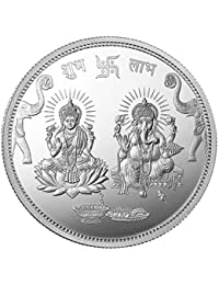 Arihant Gems and Jewels Mmtc-Pamp 10 Gm. Ganesh Lakshmi Ji Silver(999) Coin with Capsule Packing