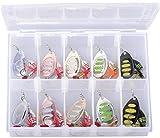 Savage Gear Rotex Spinner Set 5,5g / 8g - 10 Köder für Forellen, Barsch, Zander & Hecht, Angelköder, Forellenköder, Forellenspinner, Barschköder, Hechtköder, Zanderköder