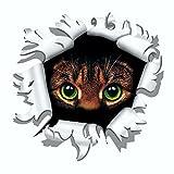 Aufkleber Einschussloch 90 mm Motiv Katze ~~~~~ schneller Versand innerhalb 24 Stunden ~~~~~