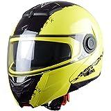 Astone Helmets, Casco modular, color Amarillo (Neon Jaune), talla L
