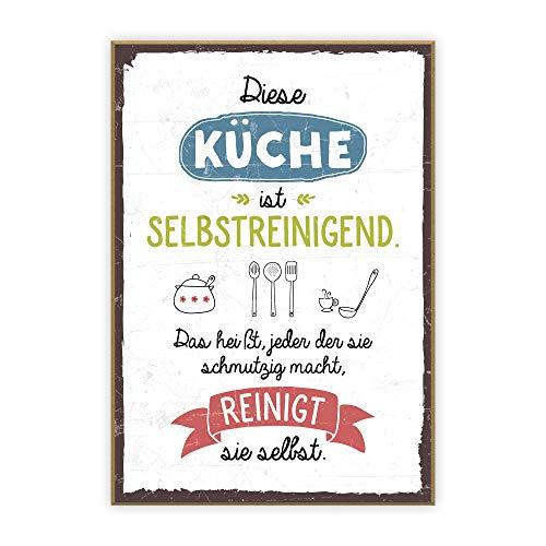 Diese Küche ist selbstreinigend, das | Spruch-Wandtattoo.de