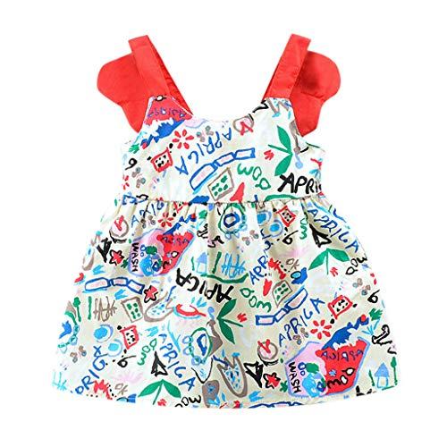 Julhold Kleinkind Kind Baby Mädchen Niedlichen Brief Gedruckt Ärmellos Party Prinzessin Dünnes Kleid Kleidung 0-3 Jahre