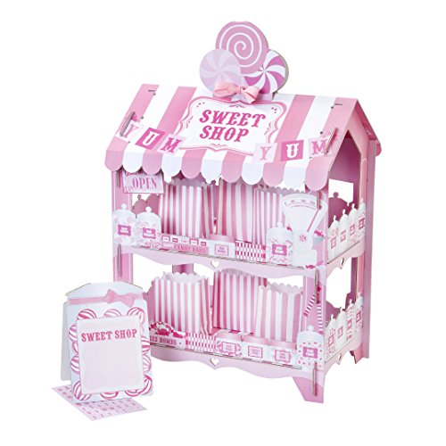 Talking Tables Pink Party Street Stall Candy Shop 2 Tier Treat Stand for a Birthday or a Wedding, Pink