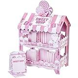 Street Stalls - Soporte de 2 pisos para dulces (forma de casa), color rosa