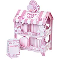 Talking Tables Street Stalls 2 Tier Candy Shop Treat Stand for Birthday, Weddings and Party, Pink