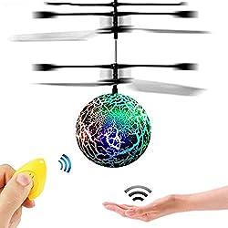 """GZMY Fliegende Kugel ist ein fantastisches Spielzeug für kleine Jungen und Mädchen. Es kann als die """"kleine Drohne oder der Hubschrauber"""" für kleine Kinder behandelt werden, um Drohnenspiel zu beginnen, das es ein wunderbares Kinderspielzeug macht, d..."""