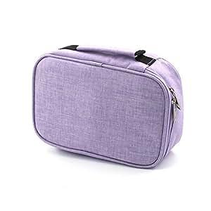 Laconile, astuccio porta penne di grande capacità, 72scomparti per matite colorate, portamatite con cerniera per matite o altri accessori Purple