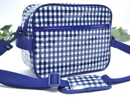 Kids going to kindergarten bag shoulder bag check large, dark blue made in Japan N0506100 (japan import)