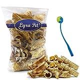 Lyra 2 kg Rinderstrossen ca. 12-15 cm Pet Trachea Kausnack Hund + Ballschleuder