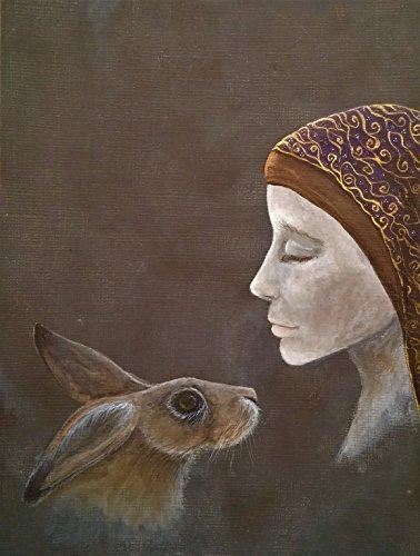 st-melangell-patron-saint-of-hares-art-print