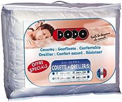 Dodo Lot Alpha Couette 220 x 240 cm Chaude Synthétique