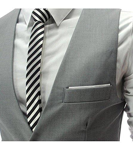 OYMMENEY - Chaleco de cintura para hombre, diseño elegante, casual y ajustado Gris gris L