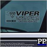 5x schwarz Viper Alarm und GPS-Tracking Gerät Sicherheit Fenster Aufkleber 87x 30mm-car, Van ACHTUNG Tracker Schilder