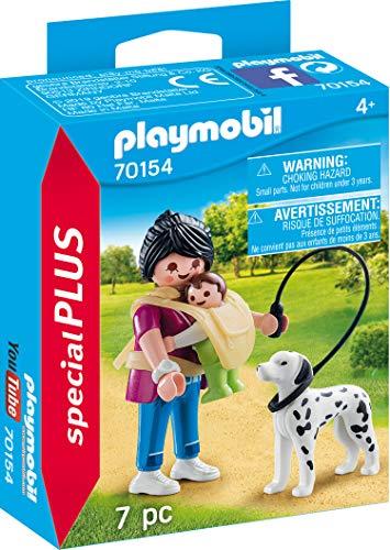 PLAYMOBIL 70154 Special Plus Mama mit Baby und Hund, bunt