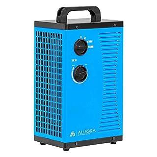 ALLEGRA H32 Heizlüfter Keramik Elektroheizer Heizgerät Bauheizer 3 KW mit Thermostat und ca. 1,5m Zuleitung