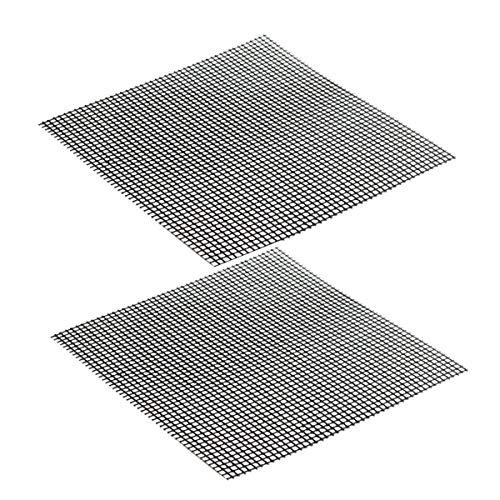 VROSE FLOSI Matten für Grill BBQ Grill - Fußmatten Antihaft für Kochfeld, Bettlaken für Grill wiederverwendbar hitzebeständig - Verwendung auf Gas, Kohle-Holz, Grill Elektro (42 * 36 cm)