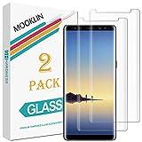 MOOKLIN Samsung Galaxy Note 8 Protector de Pantalla,[2 Piezas] [3D Cobertura Completa] [Anti-Rasguños] [Dureza 9H] [Alta Definición] Film para Samsung Galaxy Note 8 Cristal Vidrio Templado Premium