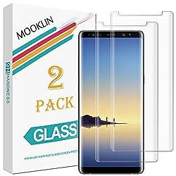 MOOKLIN Samsung Galaxy Note 8 Panzerglas Displayschutzfolie,[2 Stück] [3D Volle Abdeckung] [Easy Install Kit] [Anti-Kratzen] Vollständige Abdeckung Handy Schutzfolie für Samsung Galaxy Note 8