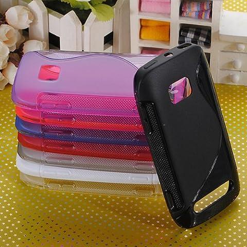 Caso de la piel Nokia Lumia 710 Soft S-Line Wave Gel TPU cubierta del silicón .
