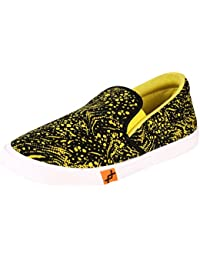 Smart Casual Men Sneakers With PVC Sole - Pastel Print Slip-ons - Men Shoes By Saasha