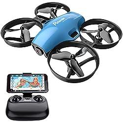 Potensic Drone avec caméra A30W Avion avec télécommande Drone avec WiFi caméra Fonction de Suspension Altitude caméra, adapté aux débutants-Bleu