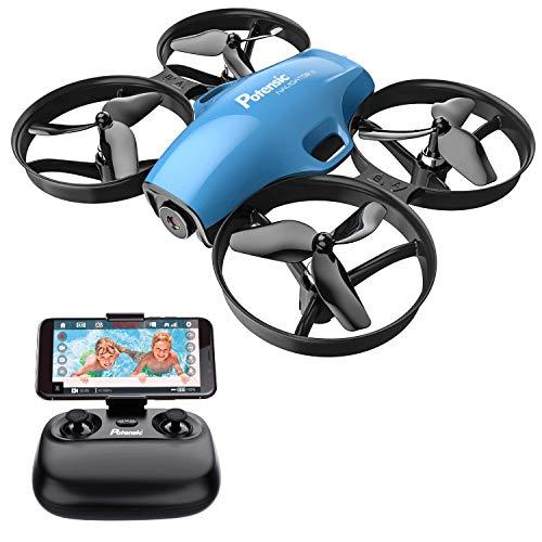 Potensic Mini Drone con Cámara 720P HD para Niños y Principantes , RC Quadcopter 2.4G 6 Ejes, con Altitude Hold, Modo sin Cabeza, Un Botón de Despegue y Aterrizaje, Parada de Emergencia, A30W