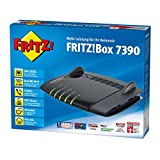 AVM Fritz!Box 7390 WLAN Router Black (VDSL/ADSL, 300 Mbit/s, DECT-Basis, Media Server)