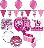 Kids Party World XXL 35 Teile zum 18. Geburtstag Perfectly Pink für 18 Personen - Servietten