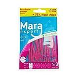 Interdentalbürsten 0,4 mm von MARA EXPERT | ISO 0 extra fein | 6 x 32 Interdentalbürsten Pink Vorteilspack | Ideale Zahnzwischenraumbürste