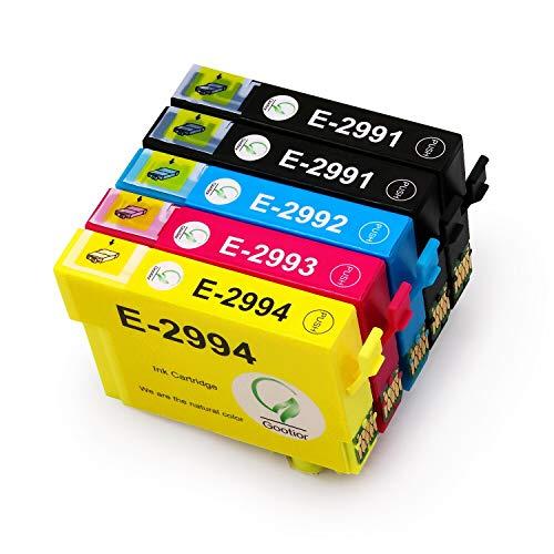 Gootior Sostituzione per Epson 29 29XL Cartucce d'inchiostro Compatibile con Epson XP-342 XP-442 XP-245 XP-345 XP-247 XP-445 XP-235 XP-432 XP-332 XP-335 XP-435(2 Nero, 1 Ciano, 1 Magenta, 1 Giallo)