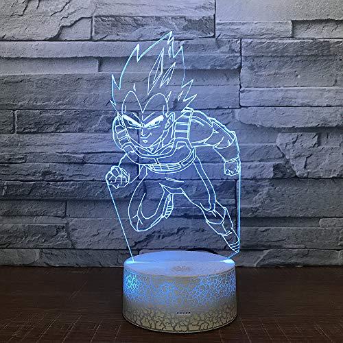 Kreative visuelle stereo led 3d lampe farbverlauf acryl sieben drachen ball led nachtlicht weihnachtsschmuck geschenk für baby zimmer -