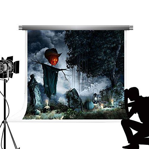 Kate Dunkle Halloween-Hintergrund Friedhof Night Foto Hintergrund für Kinder Studio Fotografie 7 x 5ft/2.2x1.5m