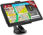 Jimwey Navigationsgerät für Auto LKW Navigation 7 Zoll Navi 16GB Navigationssystem Lebenslang Kostenloses Kart