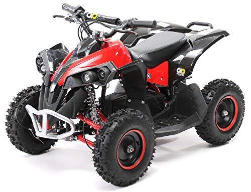 Actionbikes Motors Mini Kinder Elektro Quad ATV RENEBLADE 1000 Watt Pocket Quad - Original Saefty Touch Fußschalter - 36 Volt - Kinder Pocketquad (Schwarz/Rot)