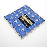 asentechuk® 50/box Romantische geruchloses handgefertigte Kerzen Teelichter Kerze Hochzeit Party Valentinstag Geburtstag Dekoration, blau, 3.5cm