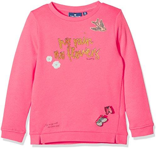 chen Sweatshirt Cute Sweater with Print, Orange (Flashy Coral 5458), 110 (Cute Kids)