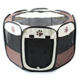 Pieghevole tessuto Pet Play Pen Puppy Dog Cat Rabbit Guinea Pig box Run gabbia canile tenda da caffè, piccolo, grande
