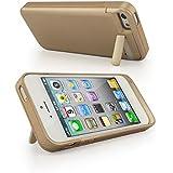 """Vanda® Nouveau Apple iPhone 5G/5S/5/5(tous les modèles 2012) """"PowerBank externe haute capacité étendue (2200mAh) Batterie de rechange portable Power Pack Chargeur d'urgence Etui rigide/Média Housse (avec support) & # xff0C; Compatible avec iPhone 5S–en or"""