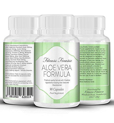 Aloe vera 1000 mg 90 capsules | nettoie le colon | détox/perte de poids | système digestif | canneberge pour traiter les infections urinaires