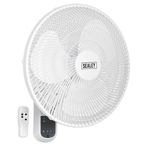 SEALEY Wand Fan 3-fach mit Fernbedienung 230 V, SWF16WR 230 wattsW, 240 voltsV (Fan 16 Blades)