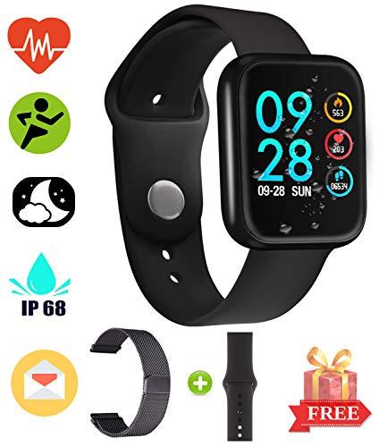 Bracciale Smart Bluetooth impermeabile - Smart Watch per Uomo Donna Bracciale Smart sportivo per Android e iOS System Smartphone chiamata e promemoria del messaggio Metal FitnessTracker Pedometro