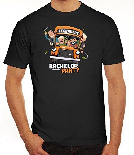 Junggesellenabschieds JGA Hochzeit Herren T-Shirt Legendary Bachelor Party Schwarz
