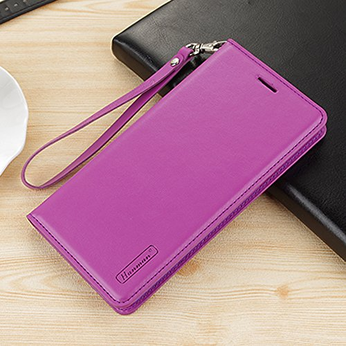 UKDANDANWEI Apple iPhone 8 Coque, Supporter Flip PU Cuir Pochette Portefeuille Housse Coque attache Etui pour Apple iPhone 8 - Turquoise Violet
